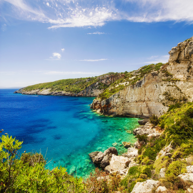 """Skinari belvedere on Zakynthos island, Greece"" stock image"