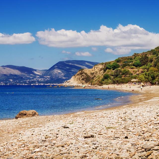 """Dafni beach on Zakynthos island, Greece"" stock image"