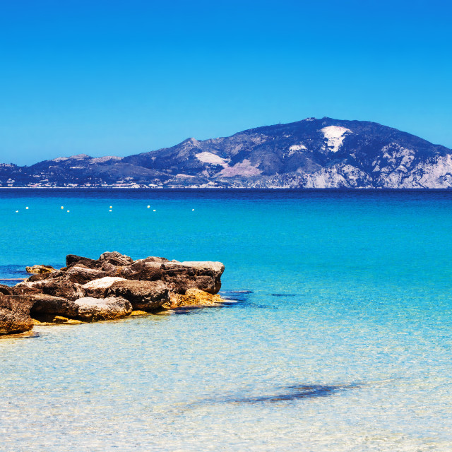"""Limni Keriou beach, Zakynthos island, Greece"" stock image"