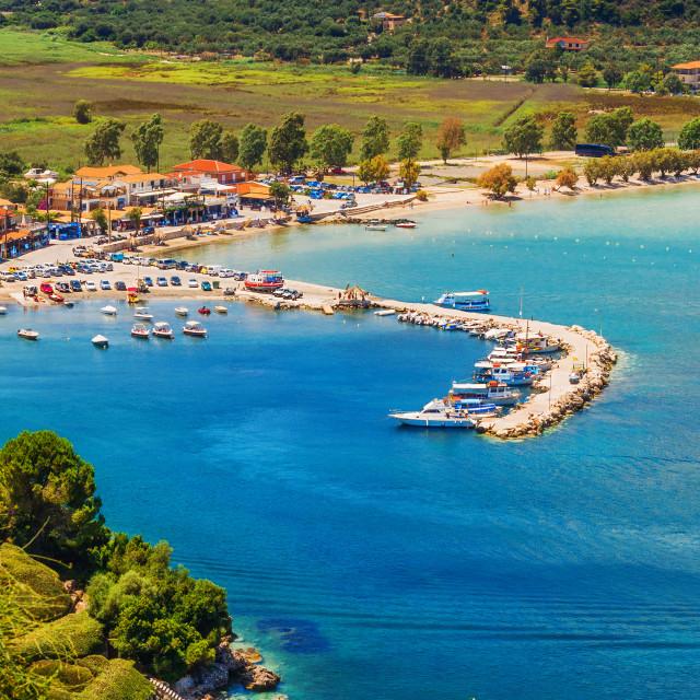 """Limni Keriou village, Zakynthos island, Greece"" stock image"