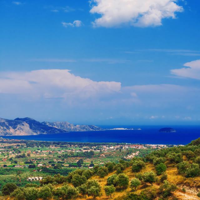"""Rural part of Zakynthos island, Greece"" stock image"