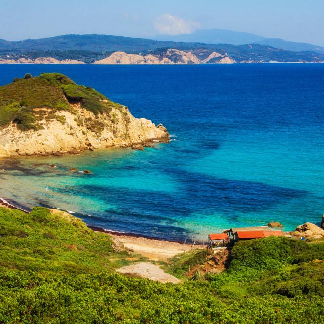 """""""Krifi Ammos beach, Skiathos, Greece"""" stock image"""