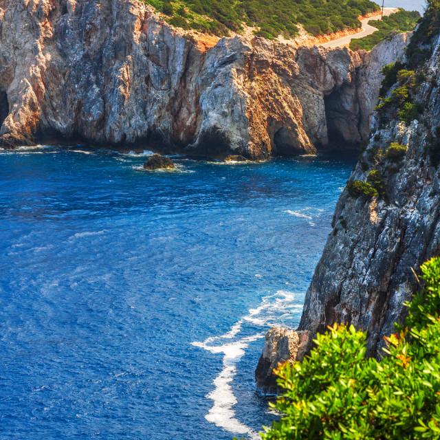 """Cape Lefkatas, Lefkada, Greece"" stock image"