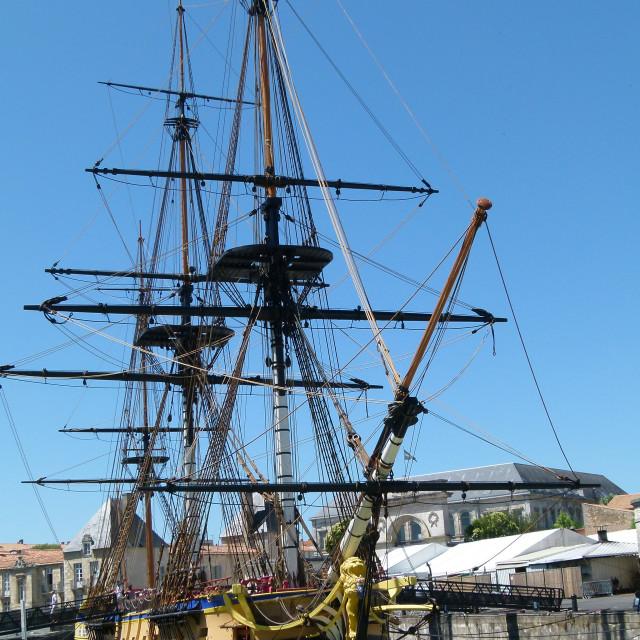 """""""Replica of La Fayette's galleon Hermione"""" stock image"""