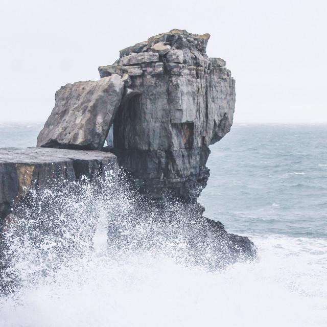 """Pulpit rock / Dorset"" stock image"