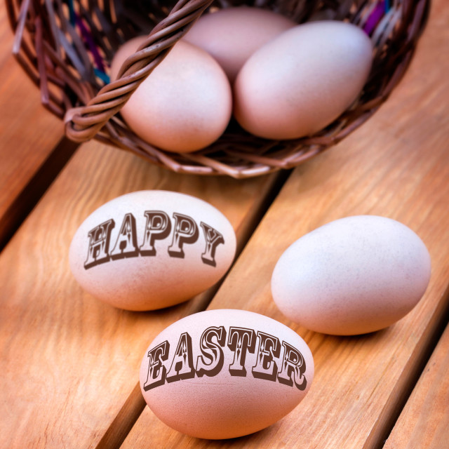 """Happy easter"" stock image"