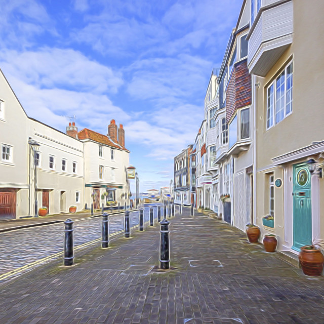 """""""Old Portsmouth"""" stock image"""