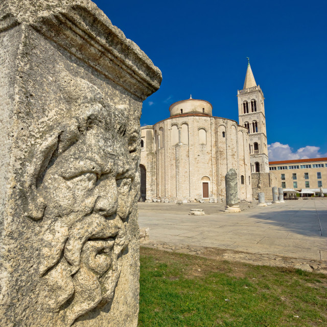 """""""Zadar old roman square artefacts"""" stock image"""