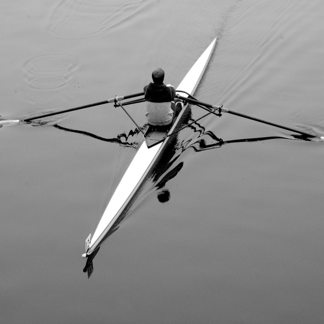 """Rower"" stock image"