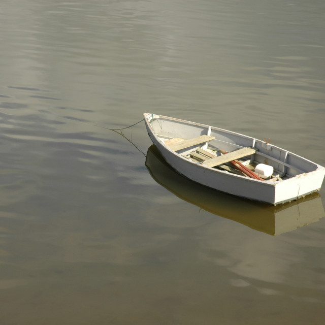 """Floating boat"" stock image"