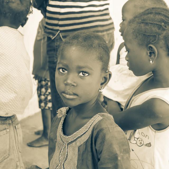 """""""Children Of Gambia"""" stock image"""
