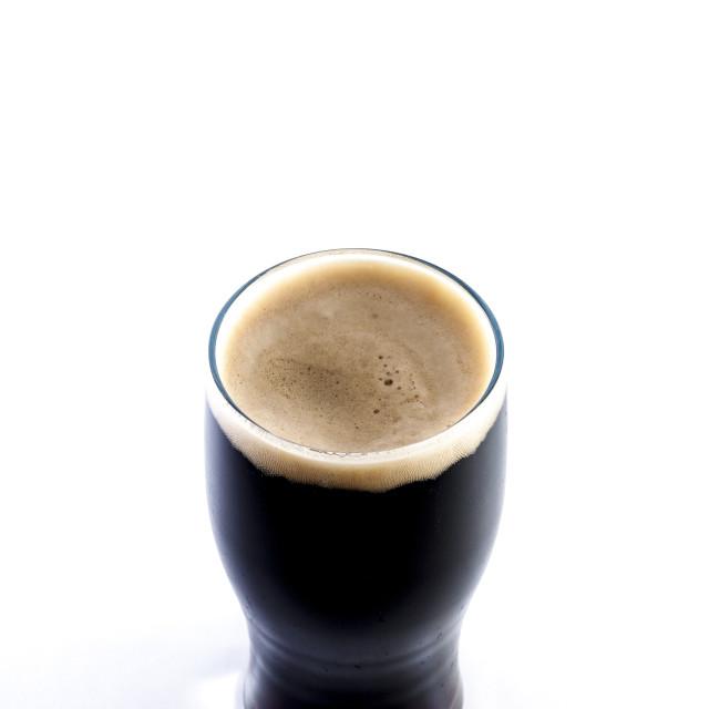 """Pint of stout"" stock image"