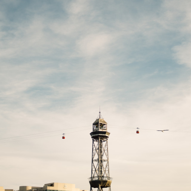 """""""Barcelona Cable Car"""" stock image"""