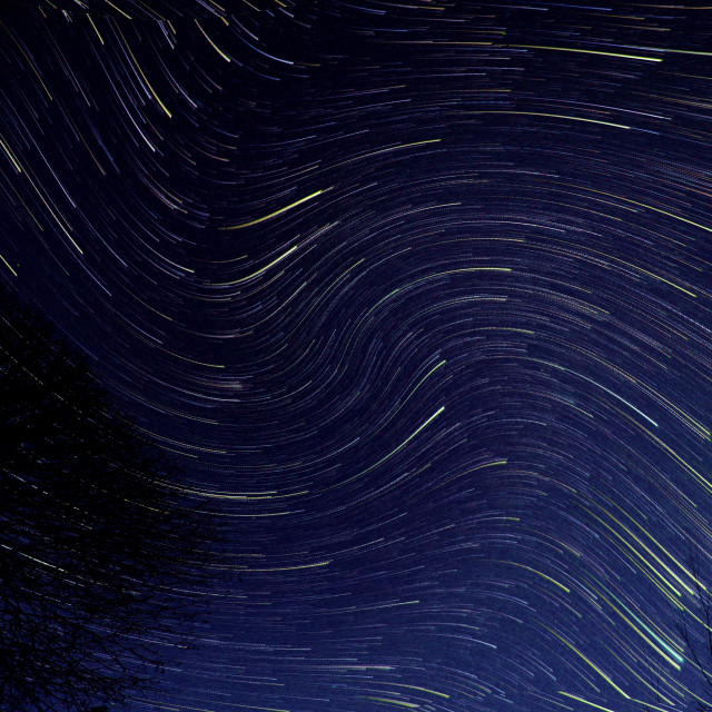 """perturbed startrails"" stock image"