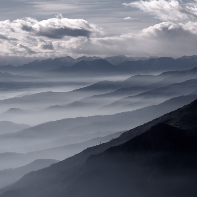 """mountains skylines"" stock image"