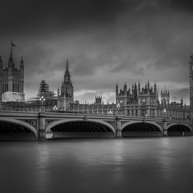 """Westminster Black and White"" stock image"