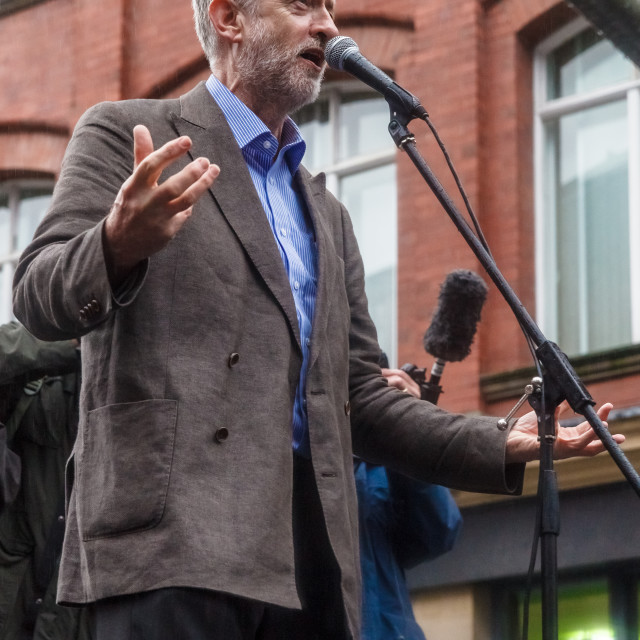 """Jeremy Corbyn at Newcastle Rally"" stock image"