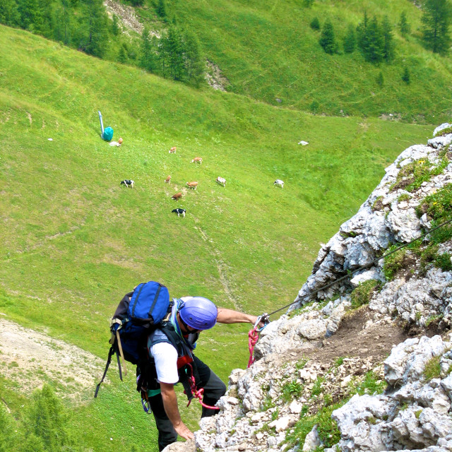 """""""Climbing over the valley"""" stock image"""