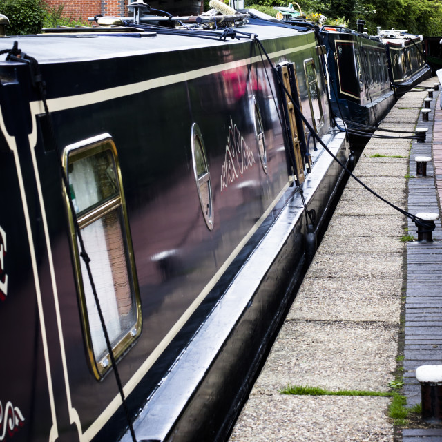 """Along the towpath"" stock image"