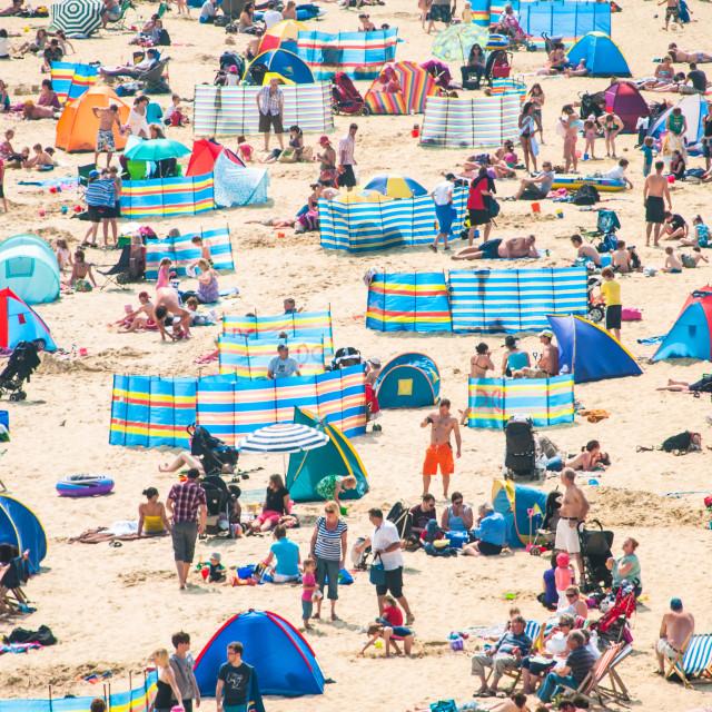 """Sunny beach on English coast"" stock image"