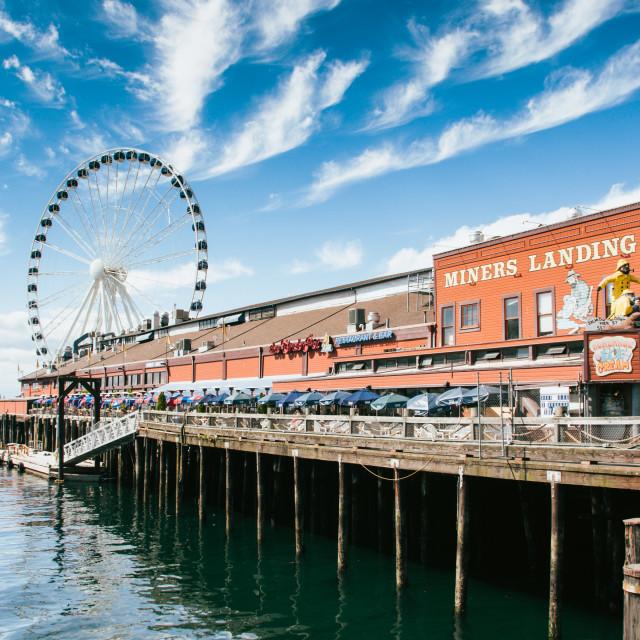 """Seattle Ferris Wheel"" stock image"