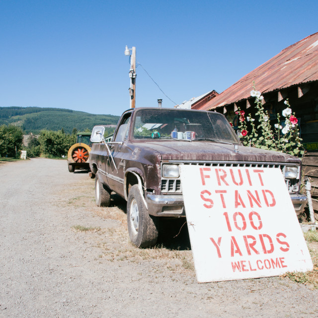 """Oregon Farm"" stock image"