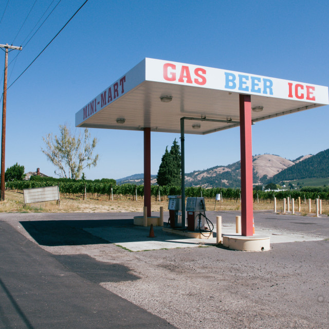"""""""Empty Gas Station"""" stock image"""