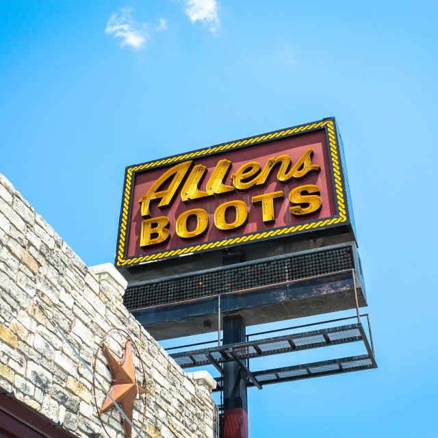 """Allens Boots"" stock image"