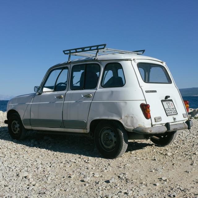 """Car on beach"" stock image"