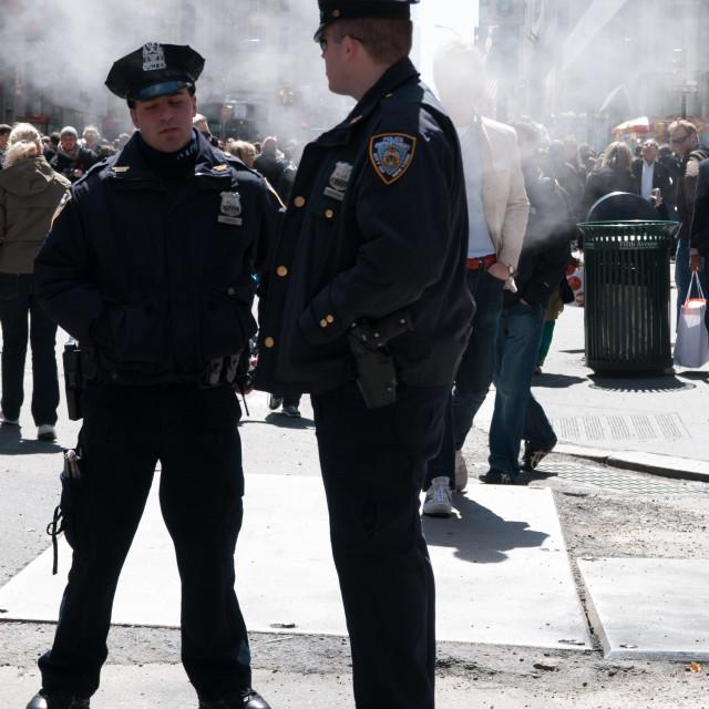 """NYC Cops"" stock image"