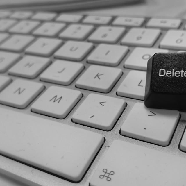"""""""Delete button"""" stock image"""