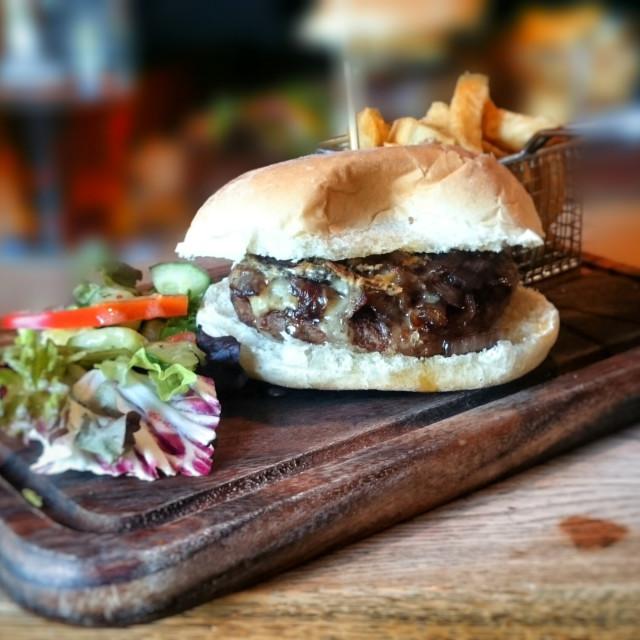 """Lamp Burger"" stock image"