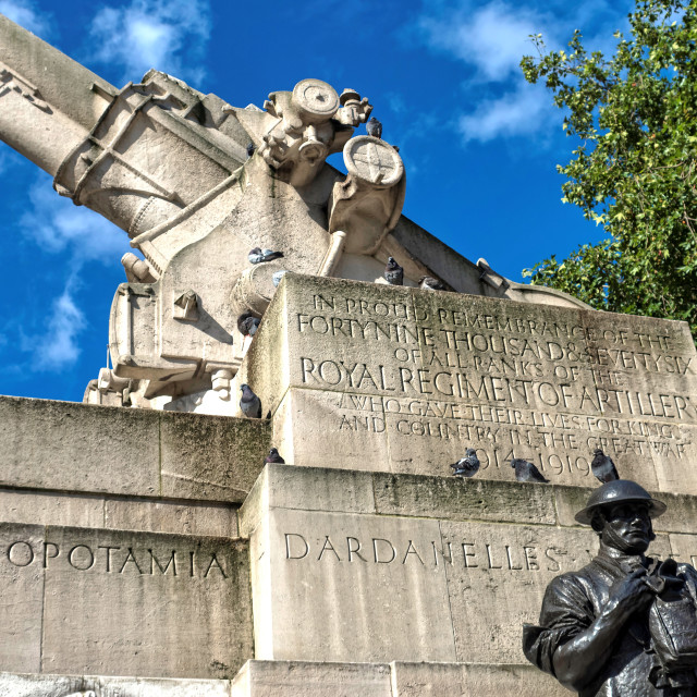 """Royal Artillery Memorial"" stock image"