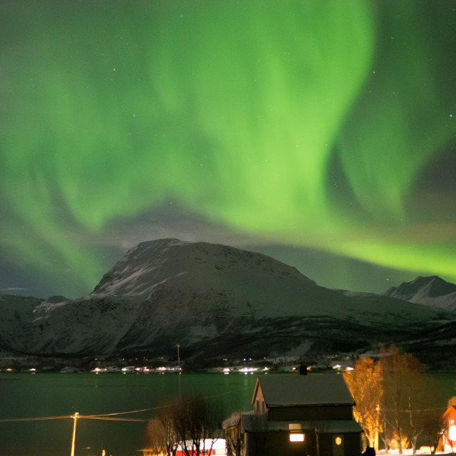 """""""Northern Lights in Norway"""" stock image"""
