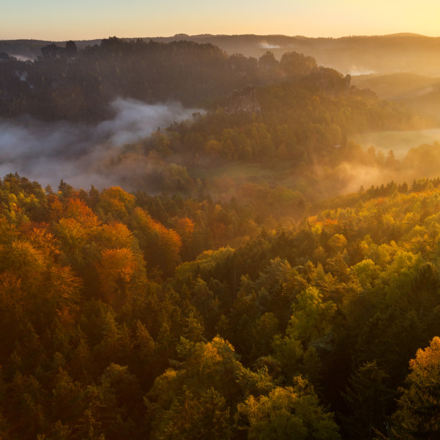 """Autumn at Bastei"" stock image"