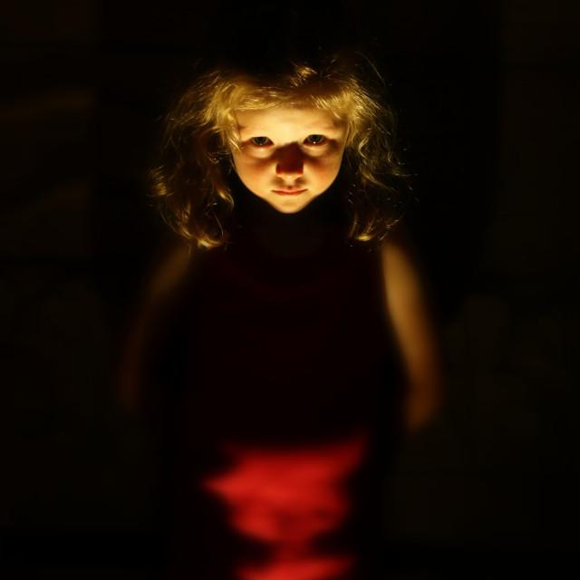 """Sinister Child"" stock image"