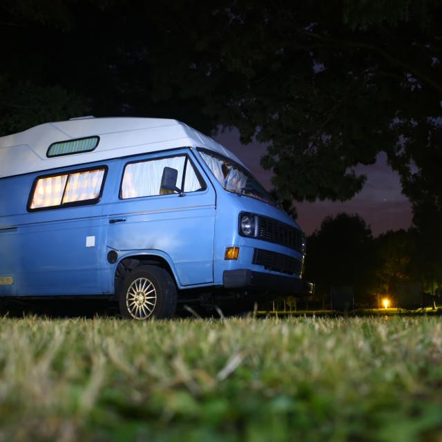 """Bedtime in Campervan"" stock image"