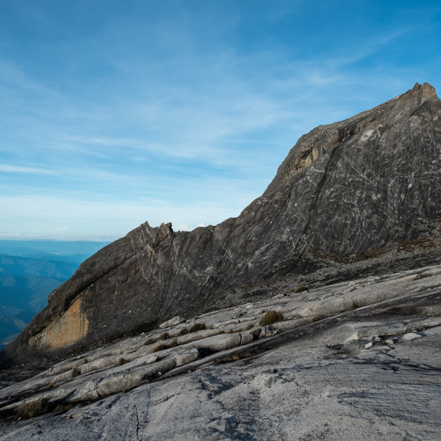 """Rockface at Mount Kinabalu"" stock image"