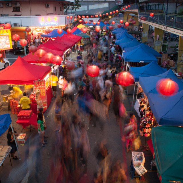 """Chinese New Year Night Market"" stock image"