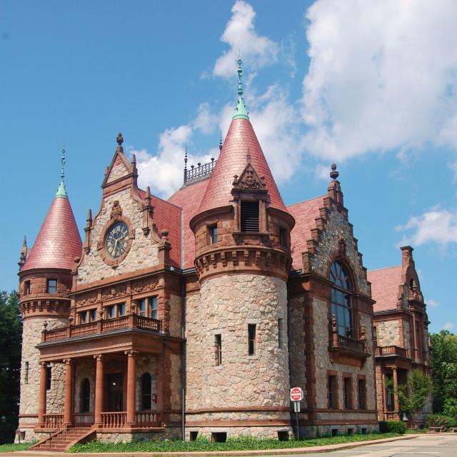 """""""Town Hall, Wellesley, Massachusetts, U.S.A."""" stock image"""
