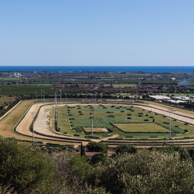 """Horse racecourse"" stock image"