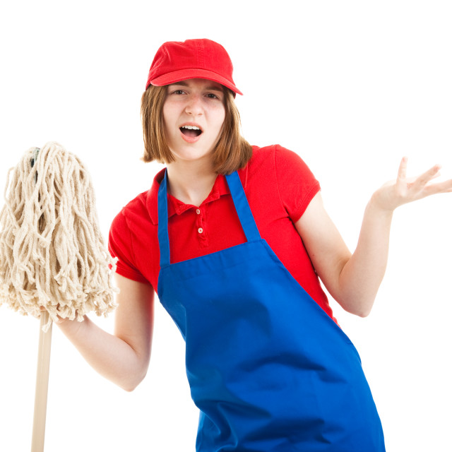 """""""Teenage Worker with Attitude"""" stock image"""