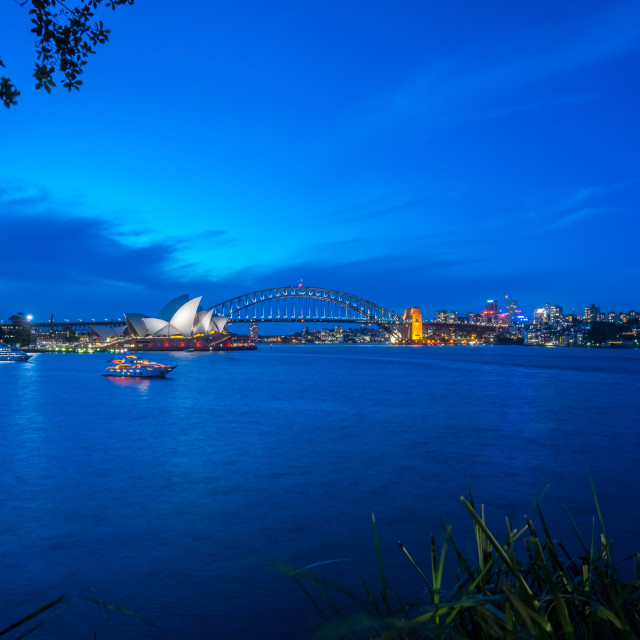 """Sydney Harbour at Night"" stock image"