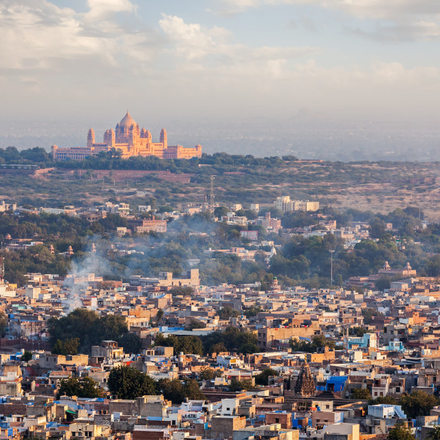 """""""Aerial view of Jodhpur - the blue city. Rajasthan, India"""" stock image"""