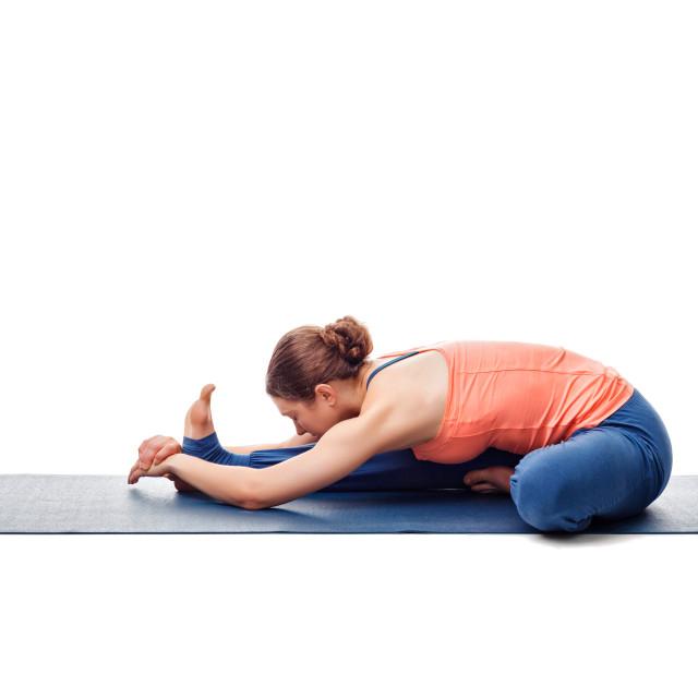 """""""Woman doing Ashtanga Vinyasa Yoga asana"""" stock image"""