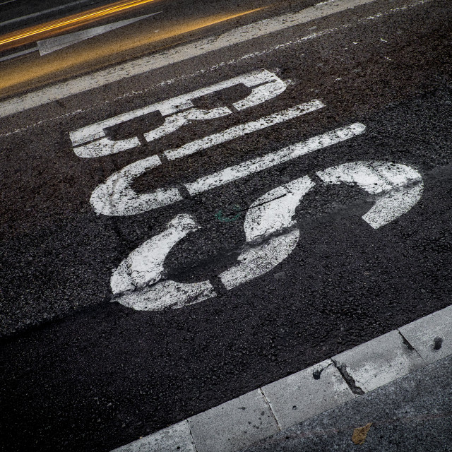 """Traffic sign in Barcelona"" stock image"
