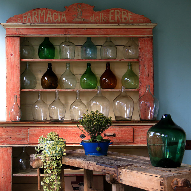 """Farmacia erbe vintage"" stock image"