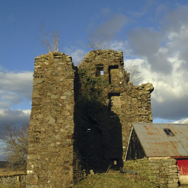 """""""Achallader Castle"""" stock image"""