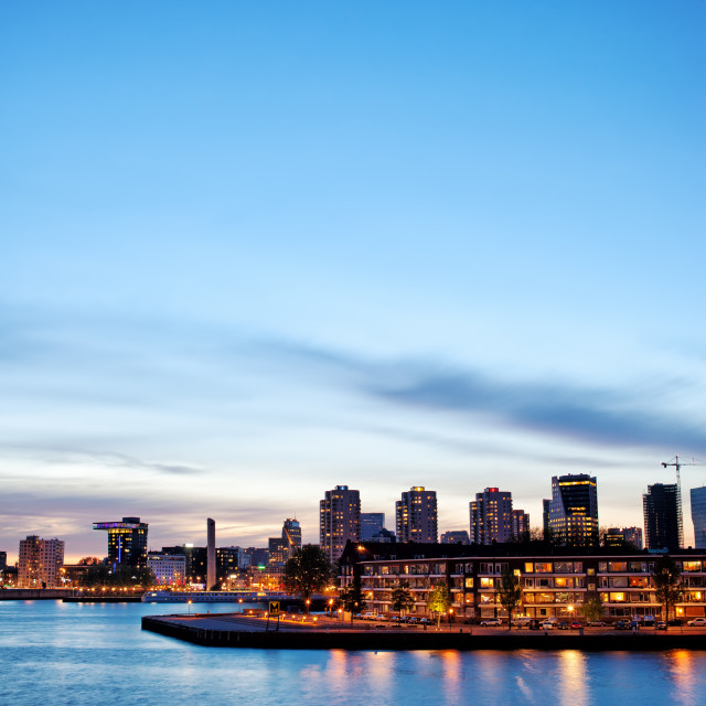 """Rotterdam Skyline at Twilight"" stock image"