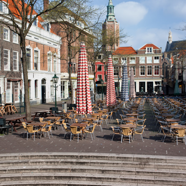 """Grote Markt Market Square in The Hague"" stock image"